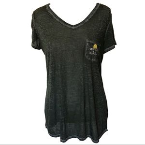 3/$15 Maurices grey burnout short sleeve tee